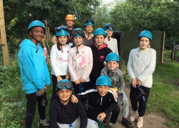 Pupils tackle the great outdoors on residential trip