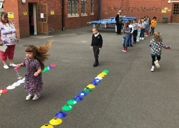 Sports day fun at Stimpson Avenue
